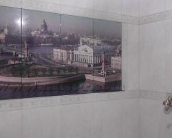 Фото ремонта ванной комнаты: ВДНХ, ул. Малахитовая
