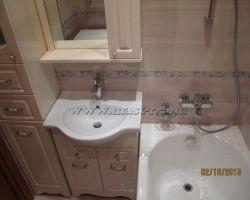 Фото ремонта ванной комнаты: ул. Адмирала Лазарева
