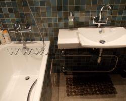 Фото ремонта ванной комнаты: ул. Гарибальди
