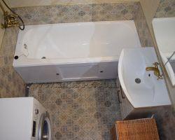 Фото ремонта ванной комнаты: ул. Рождественская, дом 21