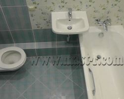 Фото ремонта ванной комнаты: ул. Краснобогатырская