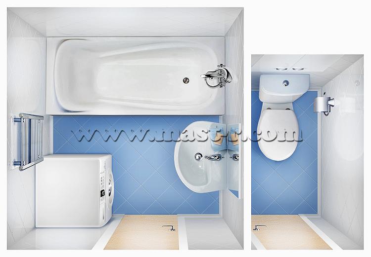 Ванная комната 170 на 170 и туалет.