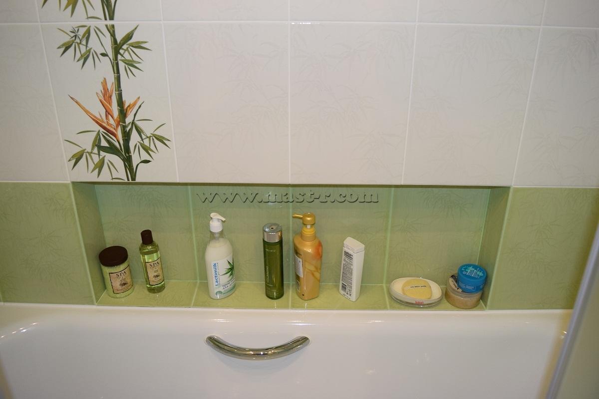 Как сделать полку в ванной своими руками из плитки 48