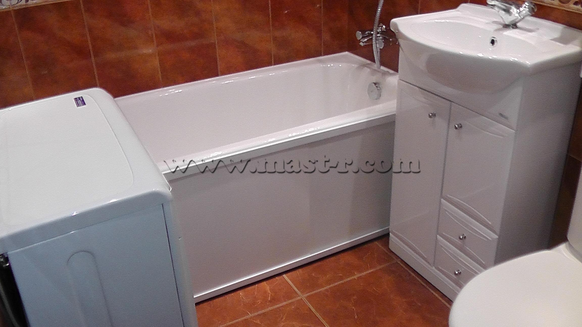Ремонт ванной в хрущевке своими руками фото