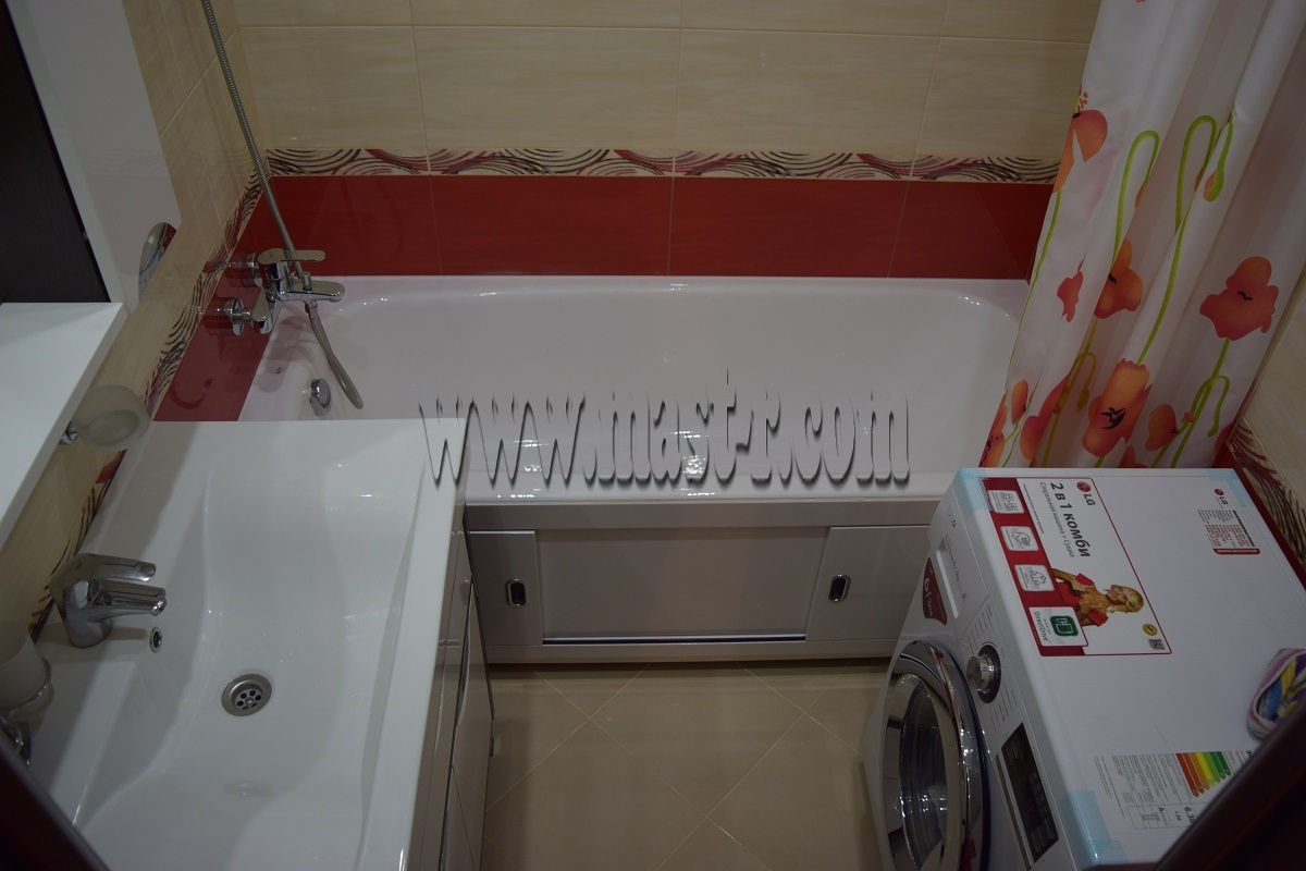 Дизайн ванной комнаты 170х170 без унитаза