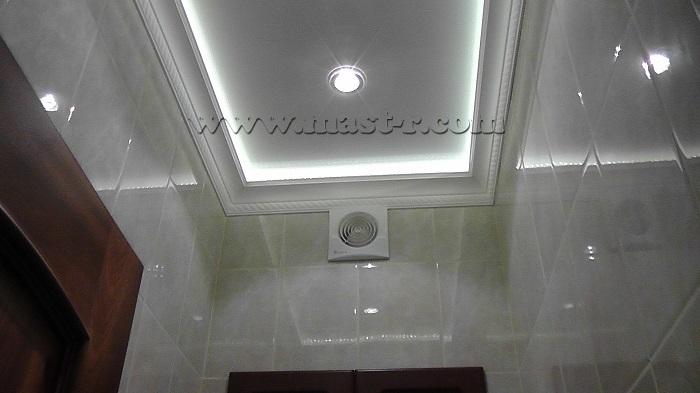 Как сделать навесной потолок в туалете