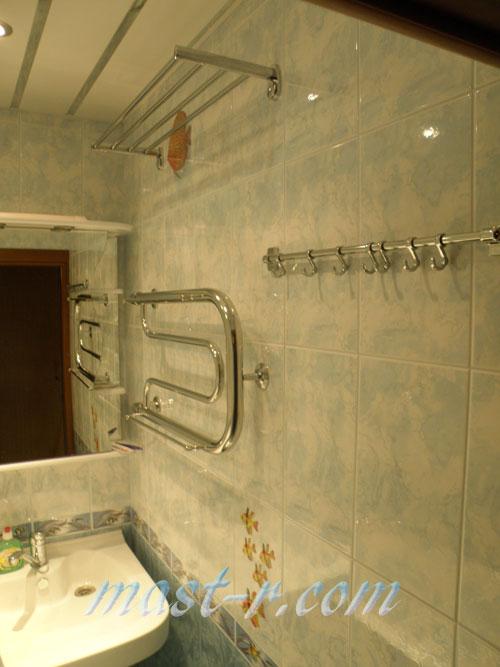 дизайн ванной комнаты, ремонт ванной фото с пролотенцесушителем