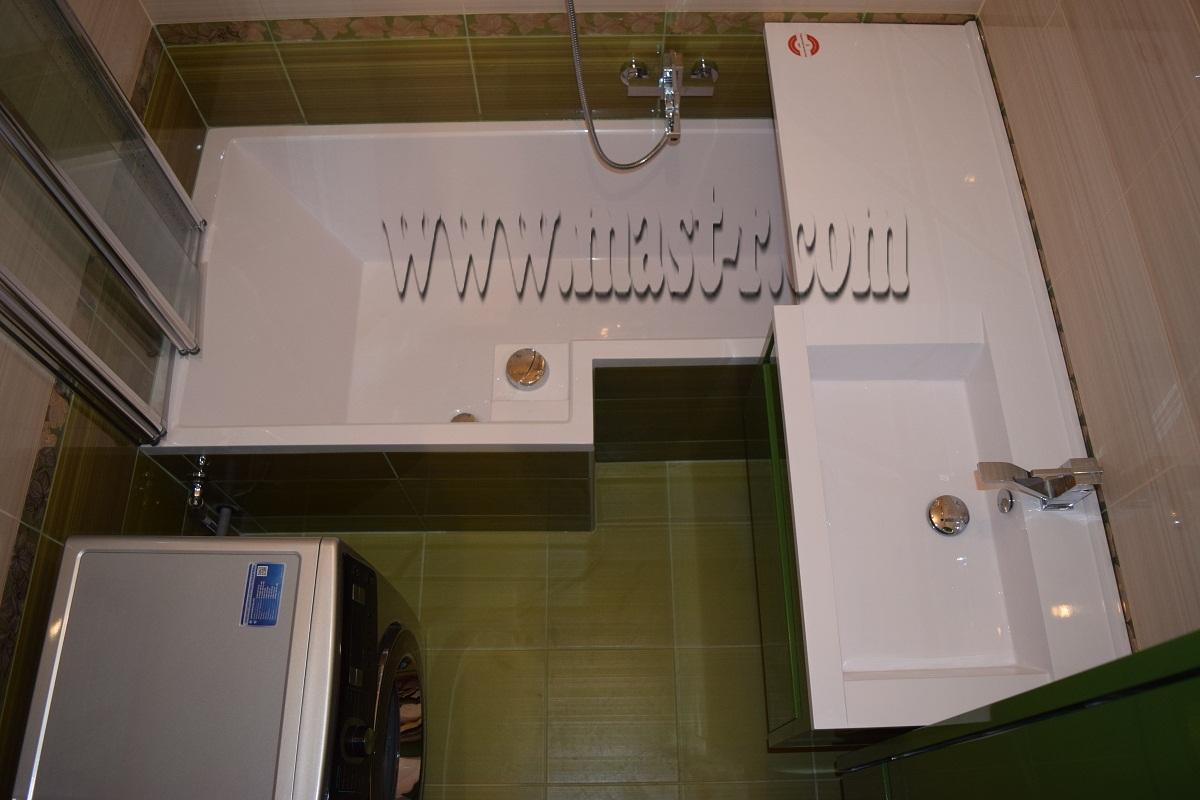 ремонт ванной комнаты 170х170 «под ключ»