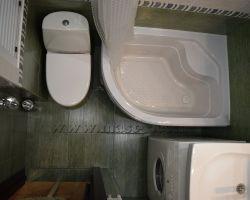 Фото ремонта ванной комнаты: Звенигородское шоссе, дом 3а