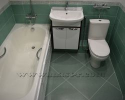 Фото ремонта ванной комнаты: Реутов, ул. Советская, 16