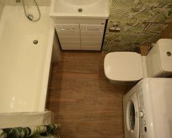 Фото ремонта ванной комнаты: Ул. Ангарская, 22, к.2