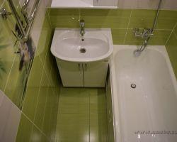 Фото ремонта ванной комнаты: ул. Красных Зорь, 45