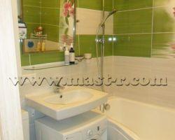 Фото ремонта ванной комнаты: Рязанский проспект