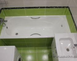 Фото ремонта ванной комнаты: ул. Новгородская, 14