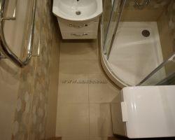 Фото ремонта ванной комнаты: ул. Коломенская, дом 3