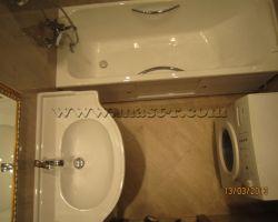 Фото ремонта ванной комнаты: Можайское шоссе