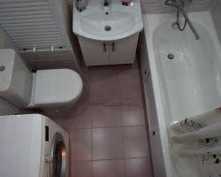 Фото ремонта ванной комнаты: ул. Руднёвка, дом 11