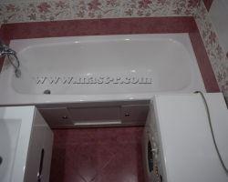 Фото ремонта ванной комнаты: ул. Главмосстроя