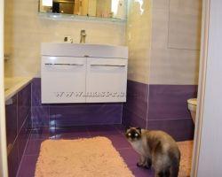 Фото ремонта ванной комнаты: ул. Амундсена