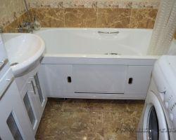 Фото ремонта ванной комнаты: ул. Санникова, 17