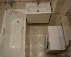 Фото ремонта ванной комнаты: Ул. Дмитрия Ульянова, 4, к. 2