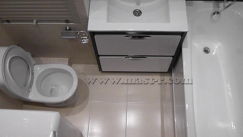 Совмещённая ванная с туалетом